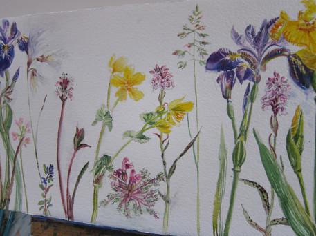 Wild Flower Detail of work