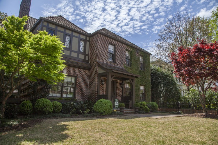 The Tudor-style home, built in 1925, has about 3,100 square feet, three bedrooms and four-and-a-half baths. The home is on the 2019 Brookwood Hills Home Tour on April 27, which benefits Children's Healthcare of Atlanta.