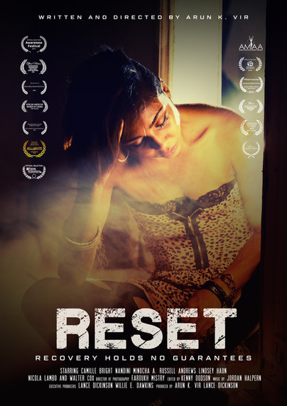 """MOVIE POSTER FOR """"RESET"""""""