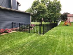 Black aluminum ornamental fence