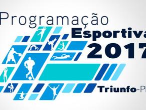 Lançamento da programação esportiva 2017 de Triunfo é marcado por homenagens e muitas novidades