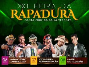 XXII Feira da Rapadura de Santa Cruz da Baixa Verde começa hoje (06)