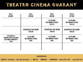 Confira a programação do Cine Theatro Guarany para este fim de semana