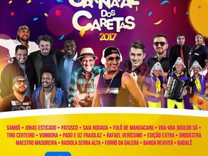 Divulgada programação completa do Carnaval dos Caretas 2017