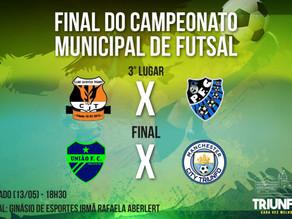 Final do Campeonato Municipal de Futsal acontece neste sábado (13)