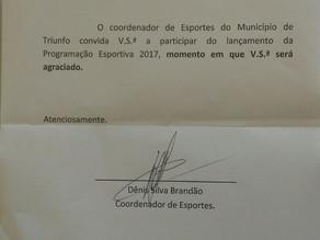 Gerência de Esportes de Triunfo lança Programação Esportiva 2017