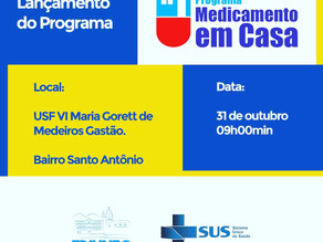 Prefeitura lança programa Medicamento em Casa nesta terça (31)