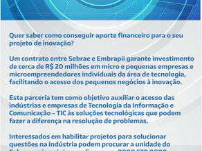Embrapii e Sebrae financiam inovação industrial de Pequenas Empresas e MEI
