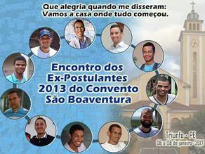 Convento São Boaventura realiza Encontro dos Ex-Postulantes  2013 em Triunfo