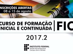 Campus Serra Talhada abre inscrições para 5 novos cursos FIC