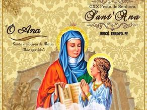 Shows da 120ª  Festa de Senhora Santana começam hoje (21)