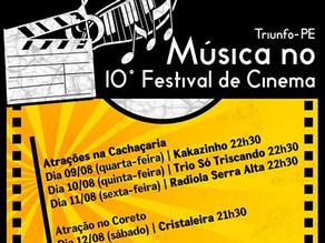 10º Festival de Cinema de Triunfo conta com música e roda de debates