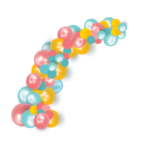 ORGANIC 1/2 BALLOON ARCH – 12ft