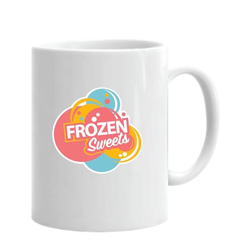 Frozen Sweets Shop Logo Mug