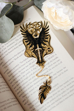 Raven Boys metal bookmark