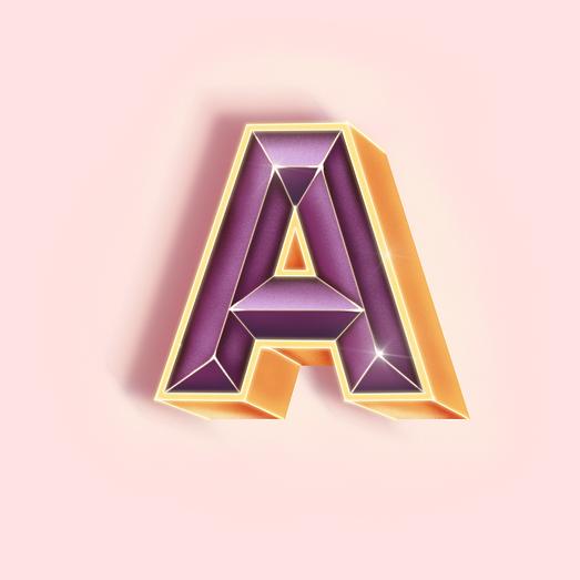3D lettering letter A