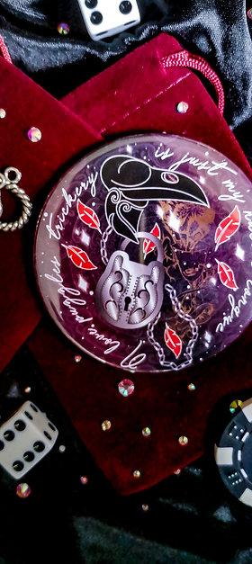 Six of Crows pocket mirror - Kaz Brekker