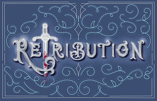 Retribution custom lettering for Beacon Book Box