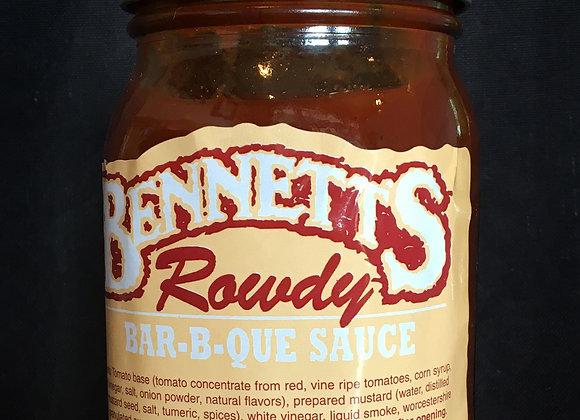 Bennett's Rowdy Sauce Jar