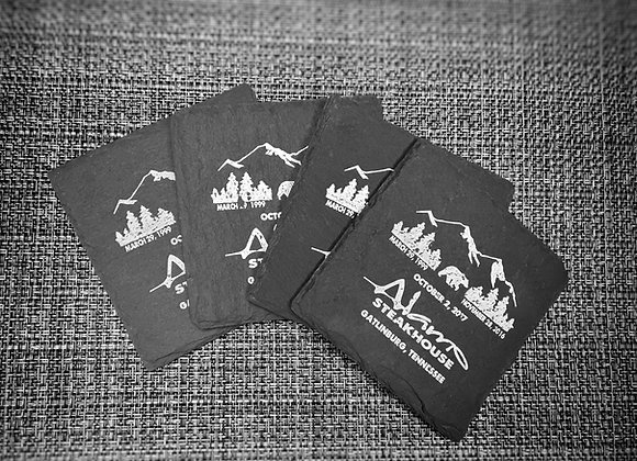 Alamo Slate Coaster Set