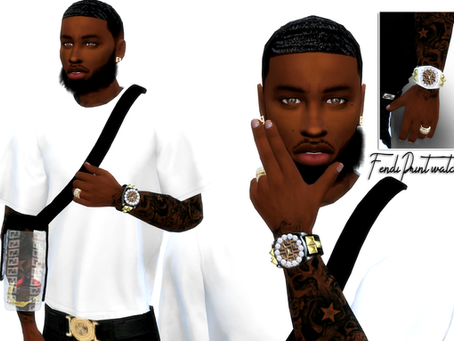 FendiPrint Watch for Male sims