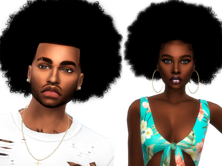 Curly Fro Pack Male And Female