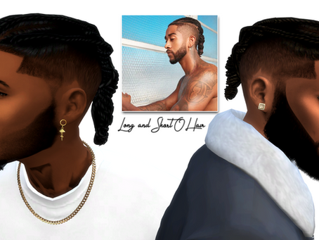 Omarion inspiration short and long hair/earrings