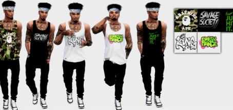 Long baggy Tank tops for Men that I recolored