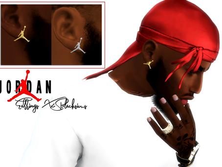 Jordan Earrings Male sims
