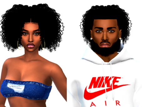 NiLAcurls Male and Female sims