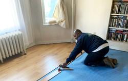 Sheldon Installing Floor