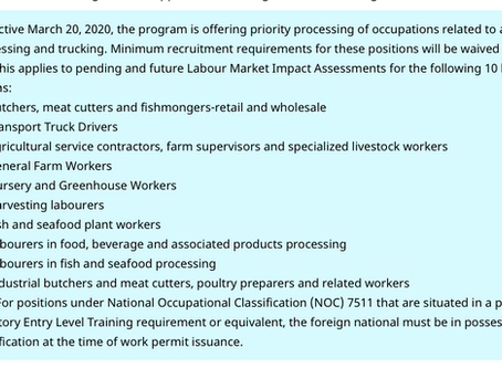 Agricultural LMIA, Work Permit & PR Updates: Great Opportunity!