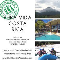 Pura Vida Costa Rica: November 4-9, 2021