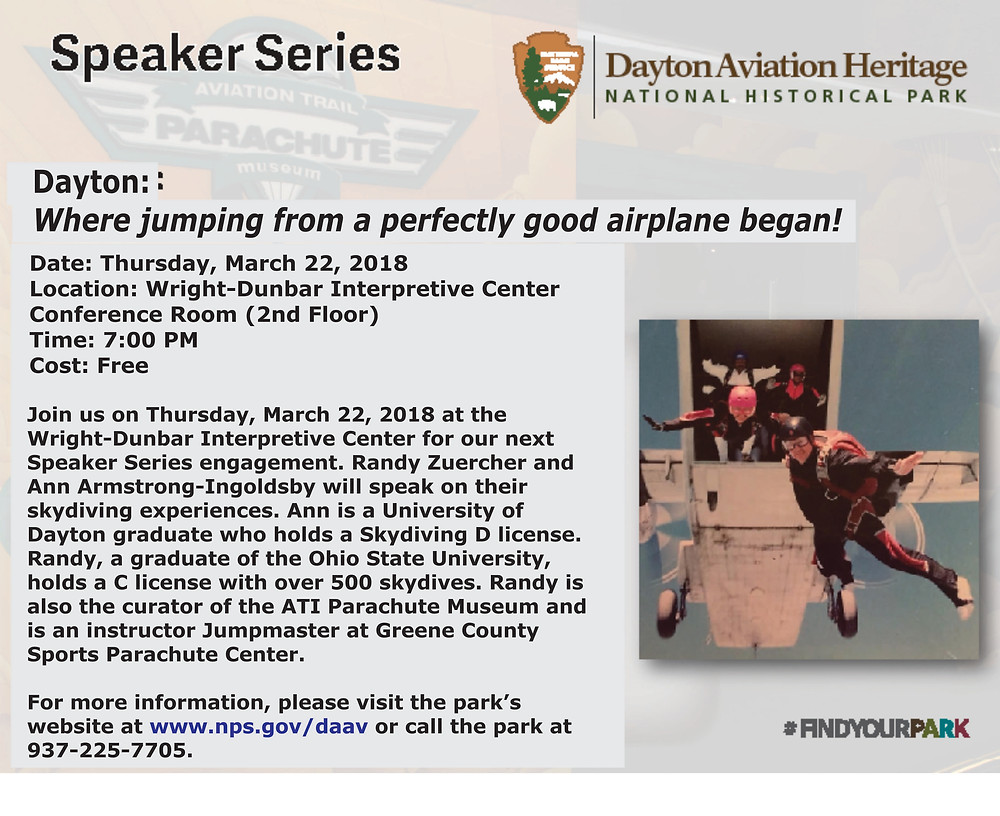 Join the Parachute Museum Team on March 22!
