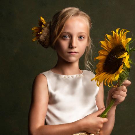 shae lynn met zonne bloem portret versie