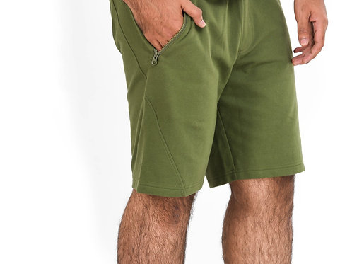Green Terry Shorts