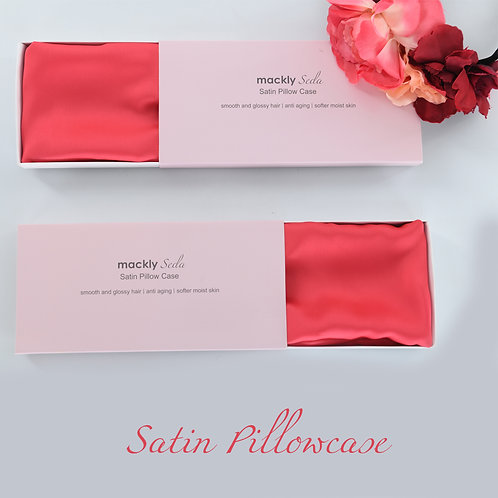 Satin Pillowcase - Dark Pink