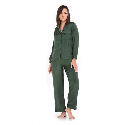 Pyjama Pant With Long Sleeves Green
