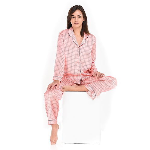 Pyjama Pant With Long Sleeves Square AOP
