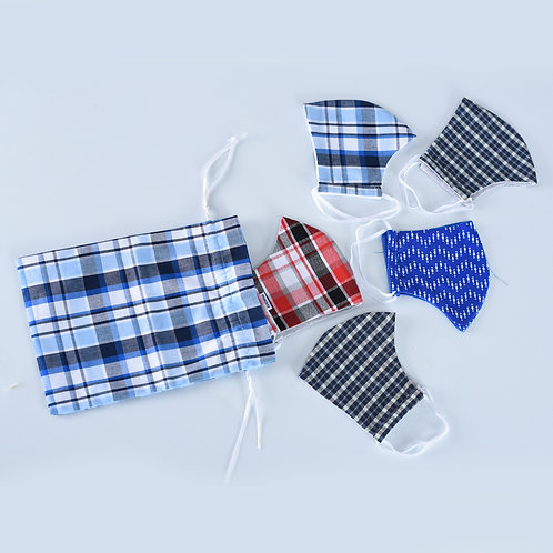 Woven Solid Face Masks - Adults
