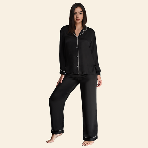 Pyjama Pant With Long Sleeves - Black (NOS Collection)