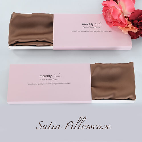 Satin Pillowcase - Brown