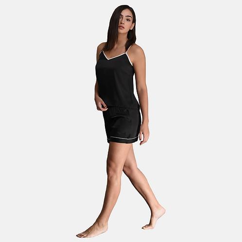 Cami Short Set - Black (NOS Collection)