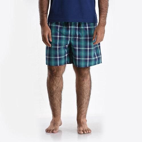 Green Check Shorts