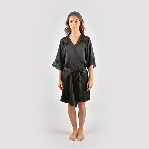 Dressing Gown Black