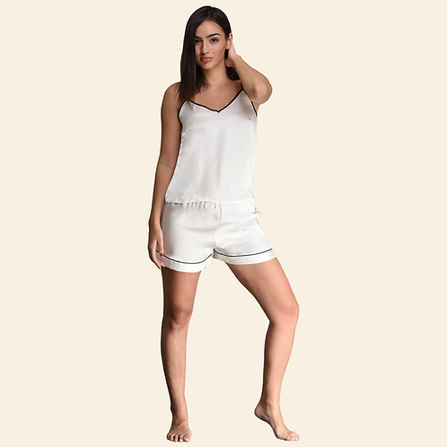 Cami Short Set - White (NOS Collection)