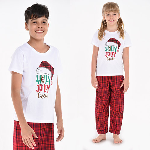 Holly Jolly (Kids Unisex Pajama Set)