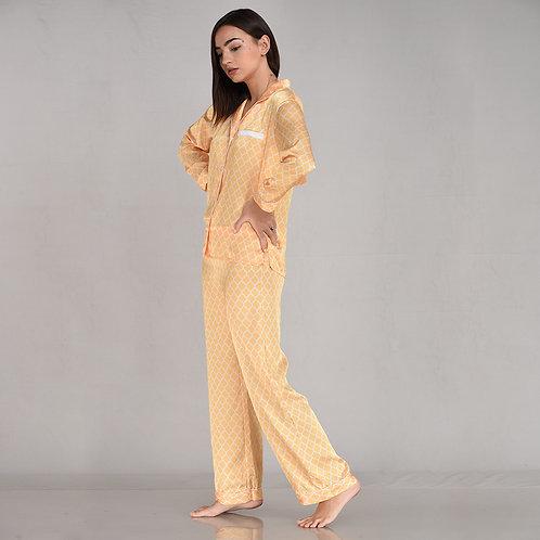 Pyjama Pant With Long Sleeves - AOP