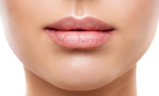 Lips Beauty Closeup, Woman Natural Face