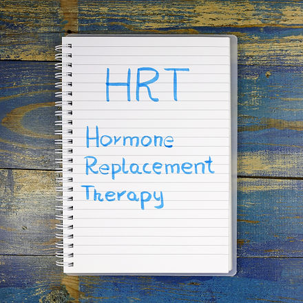 HRT- Hormone Replacement Therapy written